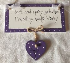 shabby chic personalised auntie godmother sister birthday plaque sign gift