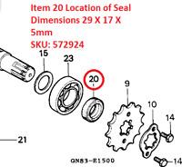 Genuine Honda C90 Front Sprocket Drive Seal 17 X 19 X 5 (PT # 91203GBG900 ) NEW