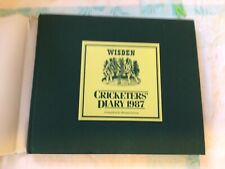 Wisden cricketers' diary 1987 , Illustrated Hardback