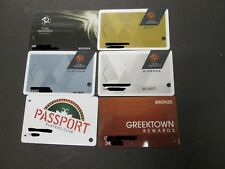 Lot Of 6 Casino Slot / Player Cards. Passport Ellis Island, Greektown, & 4 Tr