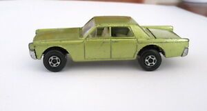 RARE MATCHBOX Superfast Wide Wheels # 31 Lincoln Continental England by Lesney