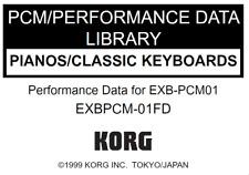 KORG EXB-PCM01 Pianos/Classic Keyboards Factory Preload Disk Triton EXB 01