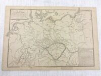 1877 Antik Map Of Northern Deutschland Bohème Pommern Alte 19th Jahrhundert