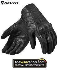 "Mens Rev'it ""MONSTER 2"" Motorcycle Leather CRUISER Gloves - BLACK - L LARGE"