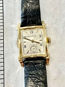 1953 Bulova New York 25mm Watch For Men. 10k Rolled Yellow Gold. Manual Wind