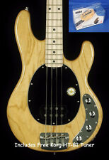 New! Sterling by Music Man Ray 34 4-String Electric Bass - Natural Gloss