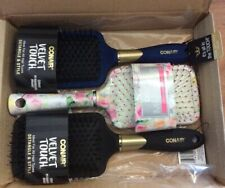 Conair Velvet Touch Paddle Hairbrushes 3 Pack.  NEW
