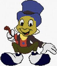 Jimminy Cricket Counted Cross Stitch Kit, Disney, Tv / Film, Cartoon Characters