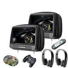 2x HDMI Schwarz 9 Zoll Kopfstütze Auto DVD Player LCD Monitor+ 2x IR Kopfhörer