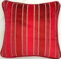 A 16 Inch cushion cover in Laura Ashley Aiden Cranberry Fabric