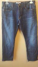 LUCKY BRAND 221 Original Straight Men's Jeans 35X30 Blue Classic