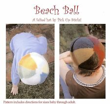 Pick Up Sticks KNITTING PATTERN Beach Ball Felted Hat for Baby through Adult