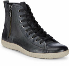 John Varvatos USA Mens 9 Hi Top Sneakers Leather Black Side Zip