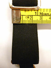 All Black Plain, Suspender Drop, Garter Elastic 1inch/25mm