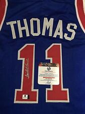 Isiah Thomas Signed Custom Pistons Jersey (GA Authenticated)