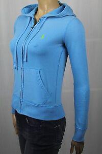 Polo Ralph Lauren Blue Full Zip Hoodie Sweatshirt Green Pony NWT