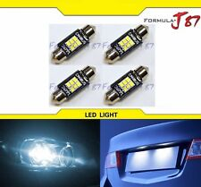 LED Light Canbus Error Free DE3425 White 6000K Four Bulbs Dome Map Step Festoon