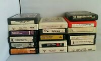Lot of 17 8-Track Tapes Paul Anka Nat King Cole Doobie Brothers