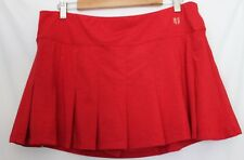 ELEVEN BY VENUS WILLIAMS ~ Red Box Pleat Tennis Skirt XL Made in USA