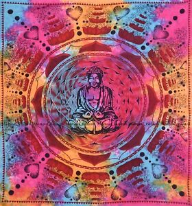 Buddha hippie multi bohemian indian cotton mandala tapestry wall hanging decor