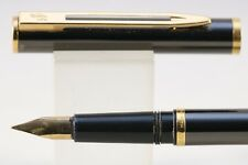 Vintage Waterman Super Master Gun Metal Grey Fine Fountain Pen with Gold Trim