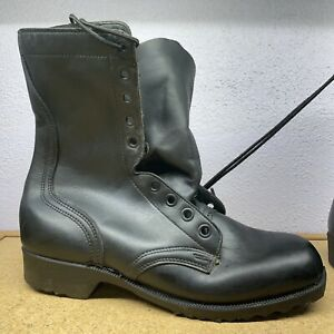 New RO-SEARCH Black Leather Combat Boots Mens Size 9.5 R