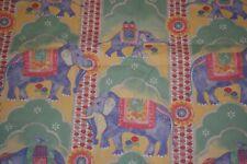 Laura Ashley Elephant Twin Flat Sheet Floral Cotton Blend Purple Yellow Pink