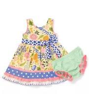 NWT Matilda Jane DAFFODIL Dress Diaper Cover 6-12 12-18 18-24 M Adventure Begins
