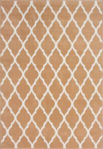 Moroccan Caramel Trellis Rug | Beige Living Room Rugs | Long Hallway Runner Rugs