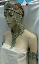 Gorgeous Egyptian Belly Dance Hand Beaded Jewelry 4 Pieces  very stunning. SB-1