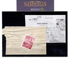 MS 2642 * 1952 North Borneo PACCHI ricevuta oa * Contrassegno * assicurato € 30.80