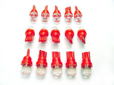 15 BRIGHT Red LEDs Domes Instrument Panel Side Marker Dash Wedge Lights Bulbs GM
