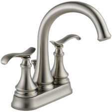 "Delta Kinley 25730LF-SP 4"" Centerset Bathroom Faucet SpotShield Brushed Nickel"