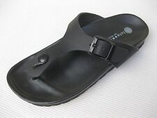 Eric Michael Womens Shoes NEW $85 Lola Sabbia Roxanna Black Leather Slide 39 8.5