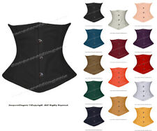 Full Steel Boned Waist Cincher Twill Cotton Underbust Shaper Corset #8079-TC