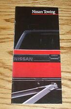 Original 1989 Nissan Truck Towing Sales Brochure 89