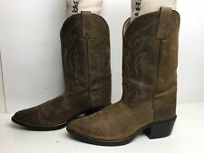 Smoky Mountain Boys Scout Western Boot Square Toe Cream//Brown 8.5 D