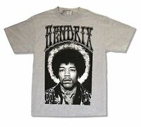 "JIMI HENDRIX ""PHOTO ON ASH GREY"" T-SHIRT NEW OFFICIAL ADULT BAND MUSIC GUITAR"