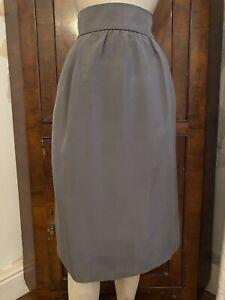 Beautiful Blumarine Grey Silk Skirt Lined BNWT