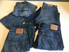 Lot of 4 Mens Blue Jeans 31x32 32x32 31x30 Distressed NICE GREAT DEAL