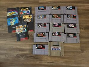 Super Nintendo SNES Games Lot Bundle 14 Games RARE GAMES