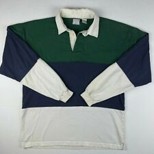 Vintage WINDSOR SHIRT COMPANY Mens Long Sleeve Cotton Colorblock Rugby Shirt M
