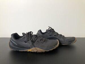 Merrell Trail Glove 6 Black J135379 Mens Size 11 Vibram Soles Gum