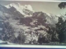 Ansichtskarte mit Briefmarke - Schweiz - Wengen, Jungfrau, Breithorn