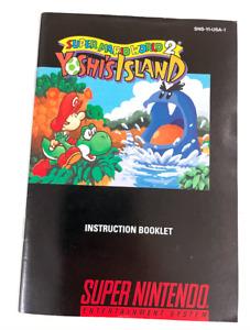 Super Mario World 2: Yoshi's Island SNES Super Nintendo MANUAL booklet