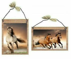 Wild Horse Pictures Western Animals Rustic Wall Hangings Home Decor Plaques