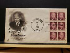 FDC #1395b 8c Eisenhower booklet pane of 6 Artcraft Cachet