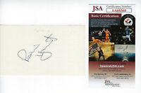 BREWERS Robin Yount signed 3x5 index card JSA COA AUTO Autographed HOFer 3000
