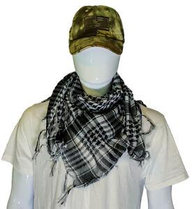 Shemagh Military Arab Tactical Desert Keffiyeh Scarf, Size 3'x3'