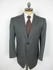 ERMENEGILDO ZEGNA 15 Mil 15 Suit 52R EU 42R US Gray Stripe Jacket Pants Italy